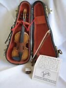 Authentic Models Holland Violin Miniature String Instrument Case Bow Rosin
