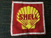 Vintage Shell Oil Gasoline Service Station Uniform Jacket Patch Used Collectible