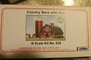 N Scale Country Barn W/ Silo By American Model Builders 630
