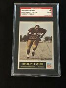 Hof Charley Taylor 1965 Philadelphia Rookie Signed Autograph Card Sgc Authentic