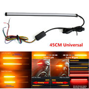 45cm Motorcycle Sequential Flowing Led Tail Drl Brake Turn Signal Strobe Light