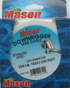 Mason Downrigger Stainless Steel Wire Cable .032 Diameter 150 Test 200 Feet