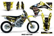 Mx Graphics Kit + Plates Decal For Suzuki Rm-z 450 2008-2017 Mad Hatter Y K