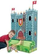 Winland Knight Wooden Medieval Castle Play Set Bookshelf And Toybox - 4 Feet Tall