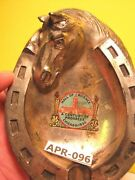 1935 Horse Head And Horse Shoe Chicago Hall Of Science Ashtray Early Japan Made