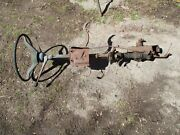 1959 Chevy Steering Column With Wheel Shifter Linkage And Gear Box And E Brake Hand