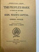 The People's Marx By Deville Extremely Rare 1900 1st Ed.
