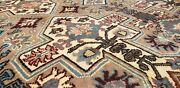 Legendary Antique Wool Pile Muted Natural Color Nagorno-karabahk Rug 6and0397andtimes9and0396
