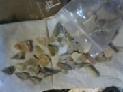 Comanche Indian Flint Chips And Arrowheads
