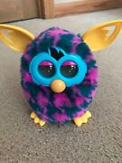 Furby Pink Blue Houndstooth Yellow Ears Electronic Toy 2012 Hasbro Interactive