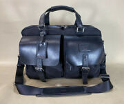 Preowned Tumi Townhouse Lonsdale Black Ballistic Nylon Leather Briefcase 24216d