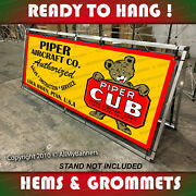 Piper Cub Airplane Aircraft Horizontal Sign Remake Old School Banner Art