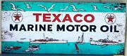 Texaco Marine Metal Signs Paper Litho 54 By 23