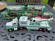 Hess Miniature Lot 1999 2000 2001 Miniature Trucks W/ Big Rig And Helicopter