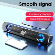 3.5mm Tv Laptop Sound Bar Wireless Home Theater Soundbar Subwoofer Dual Speakers
