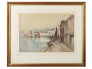 C1880 George Henry Jenkins Watercolour Cattedown Plymouth