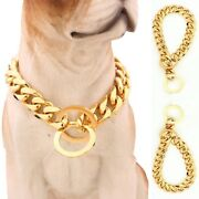 Pet Dog Punk Stainless Steel Curb Cuban Link Puppy Chain Necklace Collar Choker