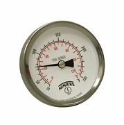 Winters Tsw Series Aluminum Dual Scale Hot Water Thermometer Dial Type 2-1/...
