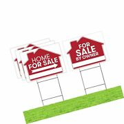For Sale By Owner Sign - 4 Premium Yard Signs Bulk Pack - 18 X 24 Inches - ...