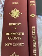 1992 1885history Of Monmouth County New Jersey Elis 2nd Reprint W/index Book