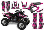 Atv Graphics Kit Sticker Decal For Yamaha Warrior 350 All Years Camoplate Pink