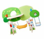 Haba Little Friends Tree House Wooden Play Set With Ladder, Platform, Swing A...