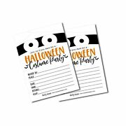 25 Mummy Halloween Party Invitation Cards For Kids Adults, Vintage Birthday O...