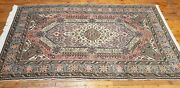 Late 1930and039s Antique Natural Dye Wool Pile Legendary Hereke Rug 5x8ft