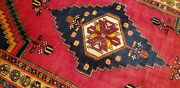 Bohemian Antique 1940-1949and039s Wool Pile Natural Color Area Rug 5and039x8and03910