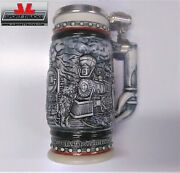 Totally Awesome Vintage Handcrafted In Brazil Train Beer Stein W/serial Number
