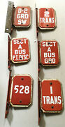 Subway Bus Train Sign Lot Of 6 Metal Signs