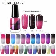 Nicole Diary Thermal Nail Polish Glitter Temperature Color Changing Water-based