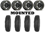 Kit 4 Sti Roctane Xr Tires 33x9.5-15 On Method 405 Beadlock Matte Black Hp1k