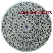 4and039x4and039 Marble Dining Coffee Center Table Top Mosaic Inlay Malachite Fh18