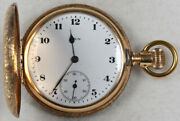 Elgin Grade 286 Parts/repair Pocket Watch 6 Size 7 J. 14k Hunting