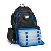 Led Lighted Tackle Box Fishing Camping Backpack 4-trays Bag Bass Crappie Hunting