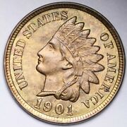 1901 Indian Head Small Cent Penny Choice Bu Free Shipping E205 Rmt