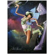 Tinkerbell Limited Edition Giclee On Canvas 27 X