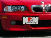 Rennline Tow Hook Receiver - Billet License Plate Mount For Bmw - Usa Style