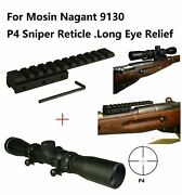 2-7x32 Long Eye Relief Scope With Low Profile Mosin Nagant 91/30 Scope Mount