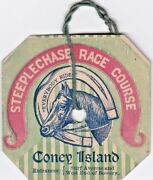 Great Steeplechase Park Coney Island Grand Stand Admission Badge.