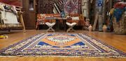 Beautiful Antique 1930-1945and039s Wool Pile Natural Color Tribal Area Rug 4and0394andtimes6and0397