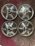 1965 Ford Mustang 14 Spinner Wheel Covers Hubcaps Set Of 4
