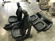 2015-2017 Ford Mustang Complete Seat Set Black Leather Heated Bucket Power