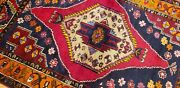 Bohemian Antique 1930-1940s Natural Dye Wool Piletribal Rug 4and0392andtimes6and0399