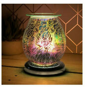 Electric 3d Touch Oil Burner Scented Aroma Rose Gold Light Bulb Lamp Dots