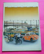 Mexican Original Comic Cover Art Mexico City Df Iconic Monuments Transit 1980s