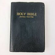 Holy Bible Black King James Version Red Letter Edition Dictionary Study 1979 B26