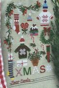 Dear Santa--christmas Sampler--sweaters-stockings--counted Cross Stitch Pattern