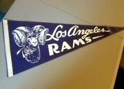 Los Angeles Rams  Pennant - Vintage - 28 X 12 Inches